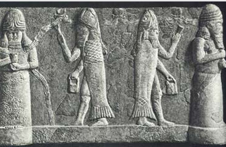 Image result for babylonian fish man
