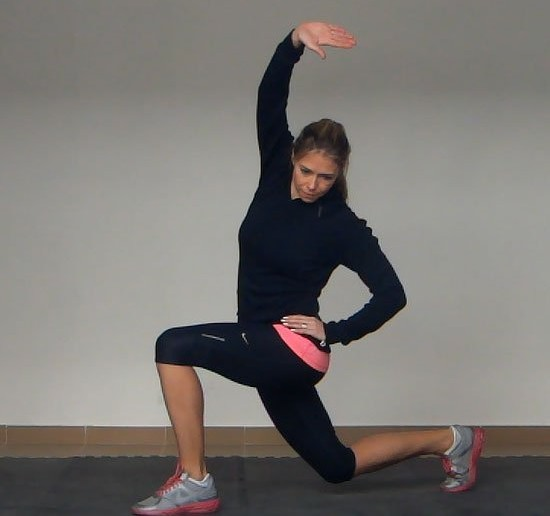 Image result for hip flexor lunge side stretch