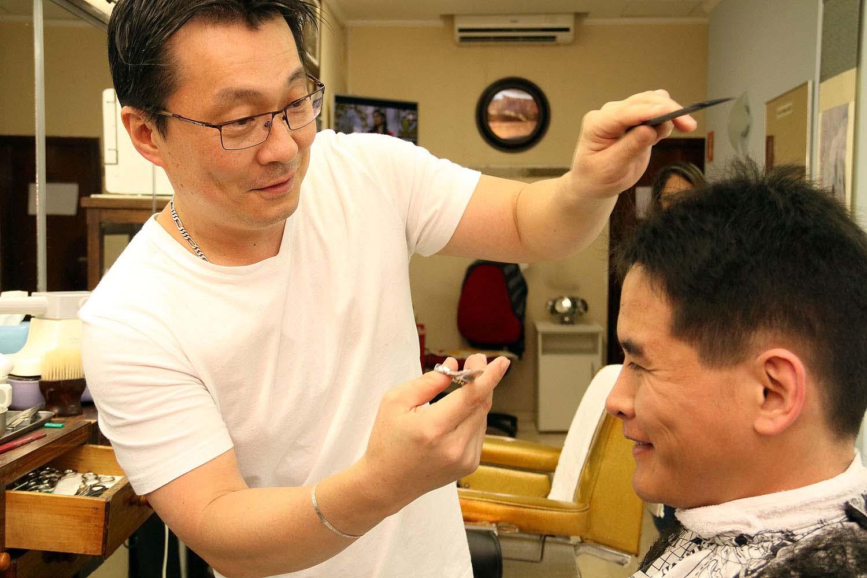 Image result for Japanese barber