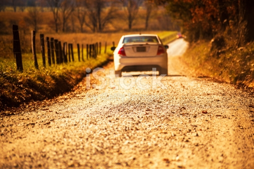 Image result for car driving off through countryside
