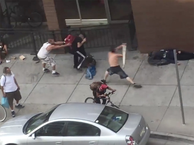 Image result for man attacks others in street