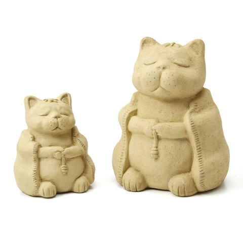Image result for cat in buddhist  robes