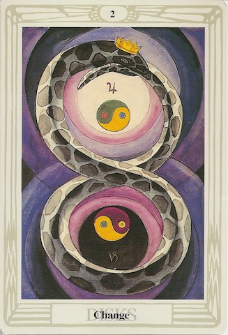 Image result for Thoth tarot 2 of disks