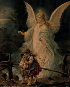 Image result for guardian angel paining