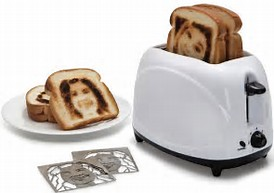 Image result for toast with face