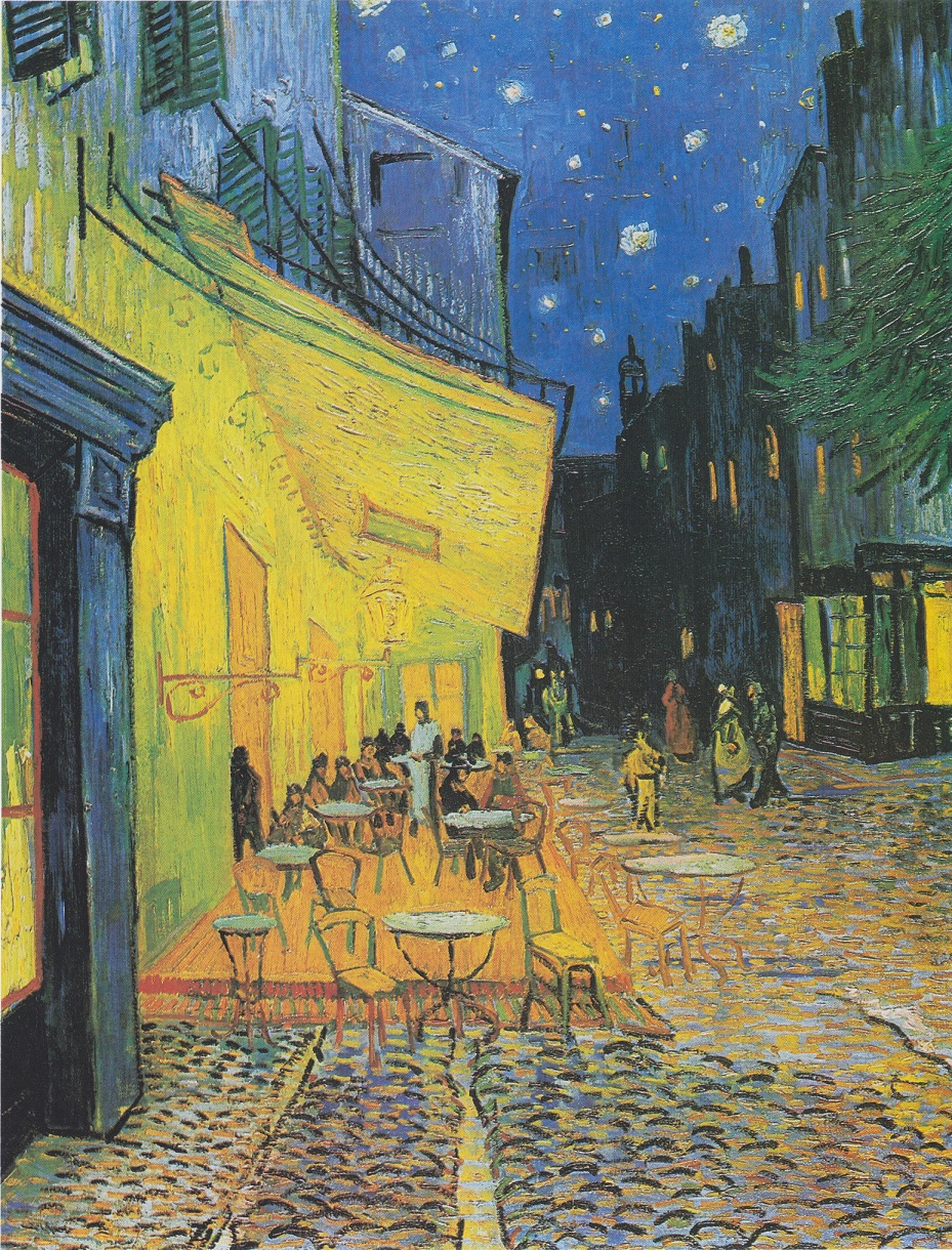 Cafe Terrace at Night van gogh painting