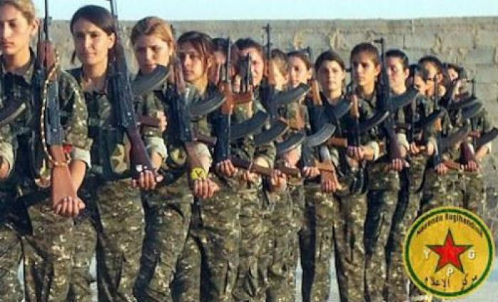 Image result for women's kurdish soldiers  hands over hearts