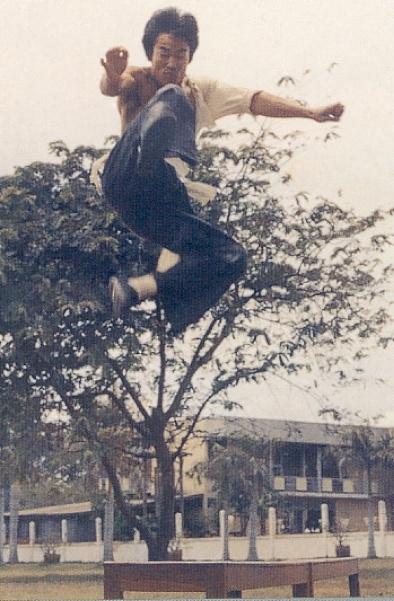 Image result for jump kick bruce lee