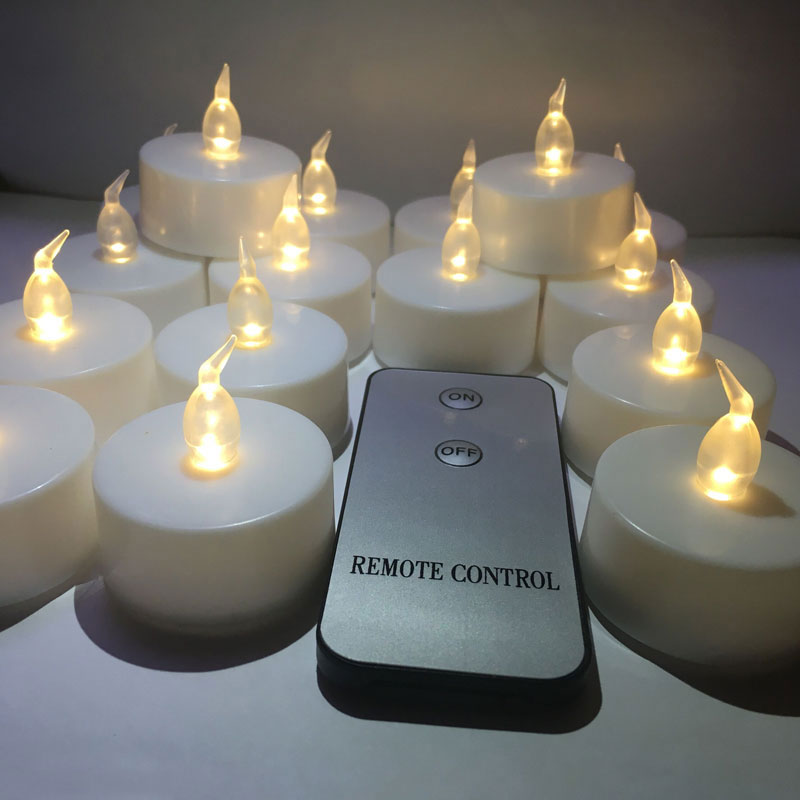 16pcs-candle-1pcs-remote-White-Flickerin