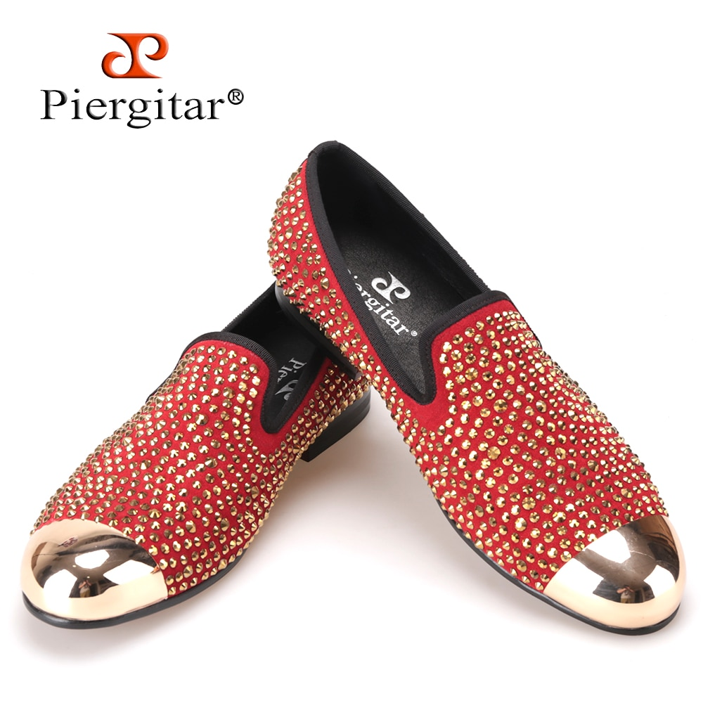 Piergitar-Handmade-red-suede-men-shoes-w
