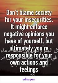 Image result for you are responsible for your own actions