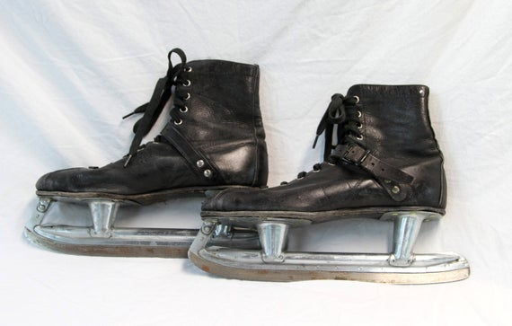 Vintage Ice Skates Hyde Athletic Shoes Black Leather   Etsy
