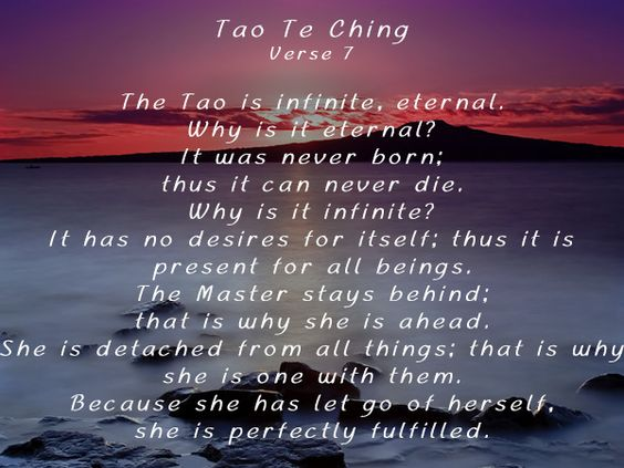Tao Te Ching verse 7