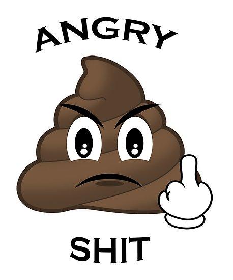 Image result for poop emoji angry