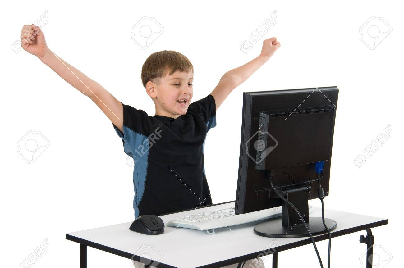 2435073-boy-on-computer-with-cordless-mo