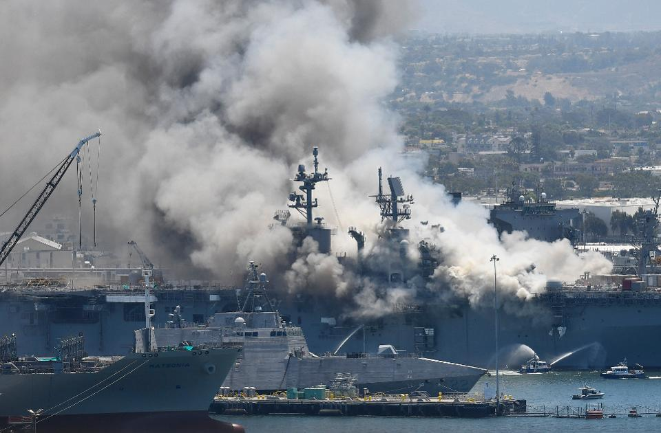 USS Bonhomme Richard Burns, Likely A Victim Of Lax Fire Safety ...