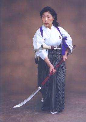 Image result for woman using naginata