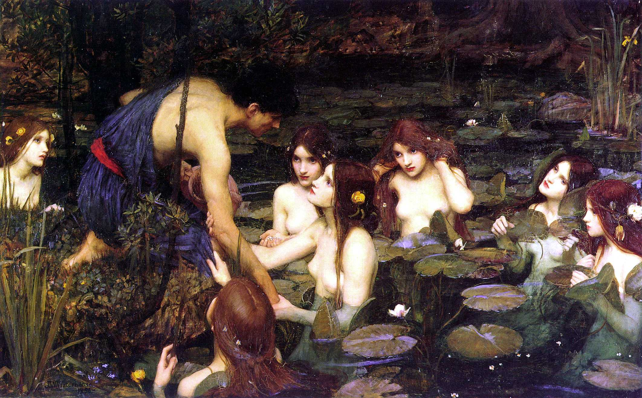 Waterhouse_Hylas_and_the_Nymphs_Manchest