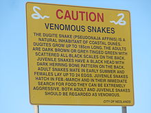 220px-Caution_sign_for_dugite_snakes_in_