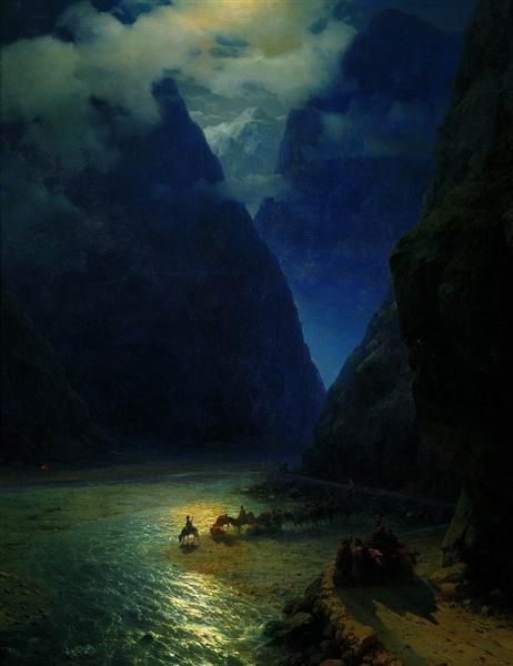 Darial Gorge, 1862 - Ivan Aivazovsky