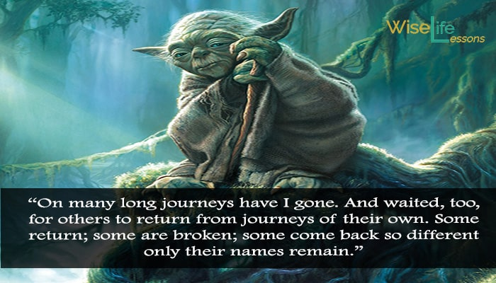 "some come back so different only their names remain."" - Yoda"