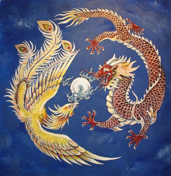 Afbeeldingsresultaat voor phoenix and dragon