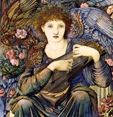Edward Burne-Jones - The Angels of Creation - Close Detail Day 6 - 1875-76.jpg