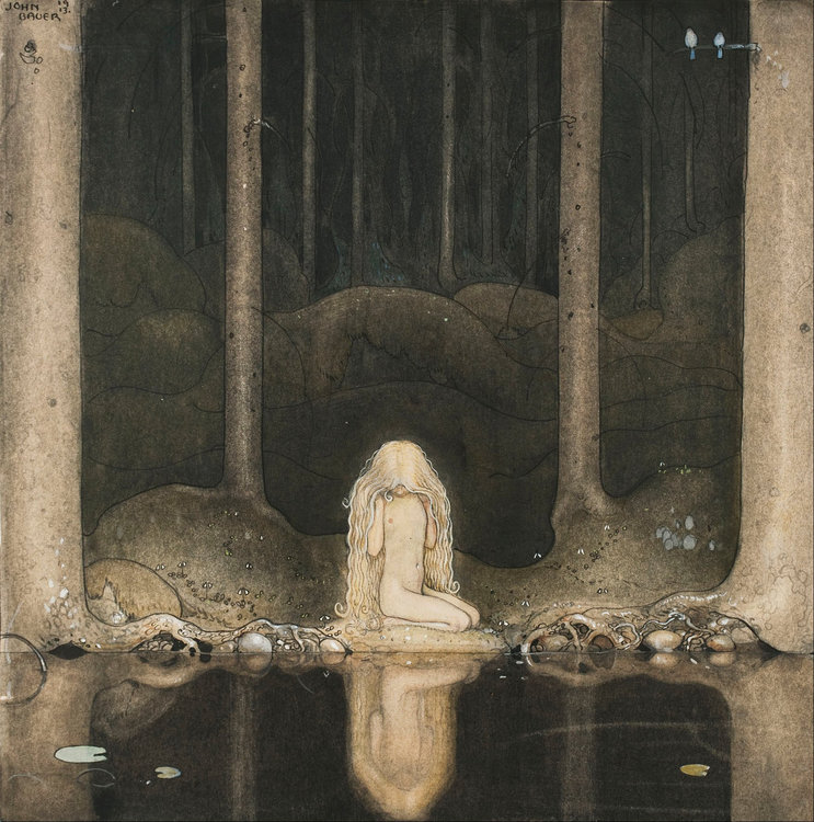 John_Bauer_-_Princess_Tuvstarr_gazing_down_into_the_dark_waters_of_the_forest_tarn._-_Google_Art_Project.jpg